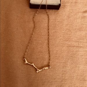 Ann Taylor gold toned branch necklace